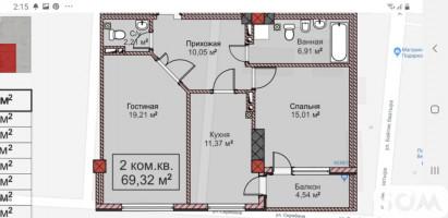 Продаю 2-комнатную квартиру, элитку, ПСО, Советская/Скрябина, 52 000 $